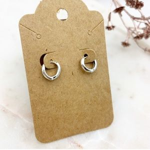 Mini Huggie Hoop Earrings Silver